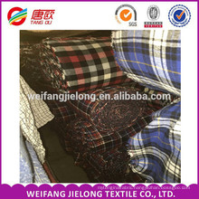 2016 cotton flannel fabric wholesale 100% cotton flannel shirt printed plaid flannel fabric