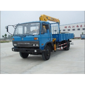 New Dongfeng flatbed truck with crane for sale