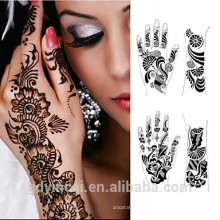 Moda Henna Tattoo Sticker com alta qualidade e não-tóxico