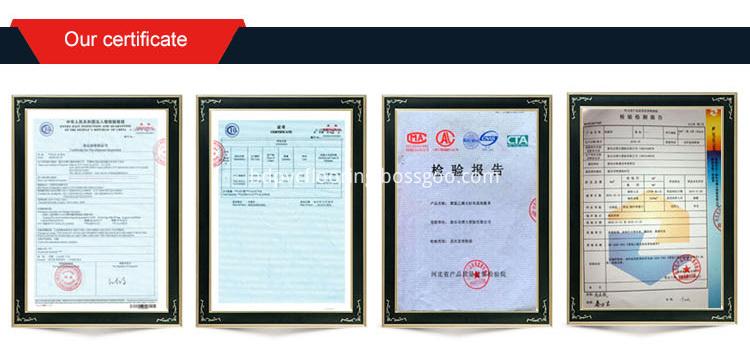 SPC flooring certificate