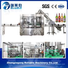 Máquina de envase de bebidas alcoólicas Garrafa de vidro à venda
