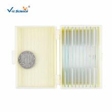 Glass Microscope Biological Slides Set