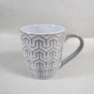 Taza de té de cerámica de porcelana en relieve Taza de té