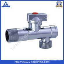 Plumbling chapado de control macho de latón válvula de ángulo (YD-5035)
