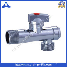 Plumbling Plated Male Control Brass Angle Valve (YD-5035)