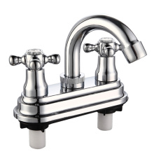 4 Inch Double Handle Bathroom Faucet (deck mounted)