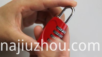 4 Dial Security Combination Luggage Lock