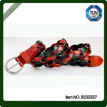genuine leather belts for women men unisex braided belt eco-friendly 2015 fashion