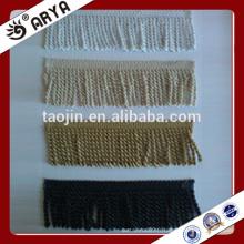 Frange à brosse en brosse en stock pour la décoration de rideaux et autres textiles de maison et un canapé