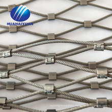 price for sale High quality flexible ferrule rope mesh stainless steel wire cable mesh
