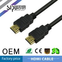 Câble SIPU plaqué or HDMI mâle vers mâle 1.4 Câble HDMI complet de transfert de données