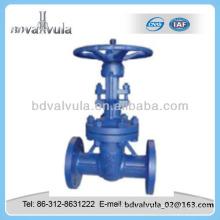Válvula de compuerta manual de baja presión de acero al carbono DIN