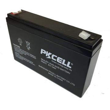 A válvula da bateria da vida AGM VRLA de 6v 7ah longa regulou a bateria acidificada ao chumbo do gel