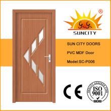 Puerta interior de PVC con vidrio