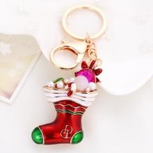 Natal presente Santa Claus Sock Minion personalizado chaveiro Multicolor