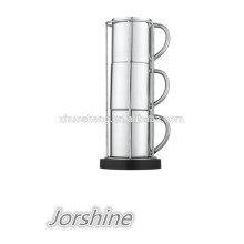 neue Design Edelstahl doppelwandig Kaffee Becher set KT008