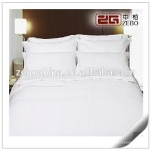 Высококачественная полосатая ткань Оптовые комплекты постельного белья гостиницы / плоские листы