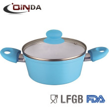 china supplier aluminum ceramic coating casserole