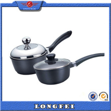 High Quality Black Color Die Cast Aluminum Milk Pan