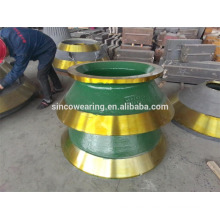 Bowl Liner and Mantle -- High Manganese Casting Steel Cone Crusher Spare Parts