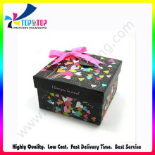 Blue Printing Gift Box with Beautiful Ribbon