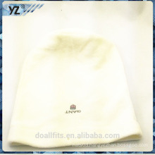 white with emboridery beanie cap made in china