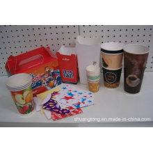 Caja de embalaje de alimentos de papel y tazas de Paer Vasos desechables caliente y fría