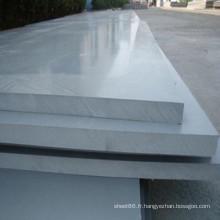Fabrication feuille / panneau rigide de PVC gris