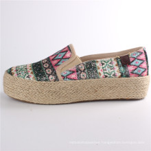 Women Shoes Canvas Shoes with Hemp Rope Rubber Outsole Snc-28065