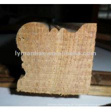 Moldura de madeira de teca para canto