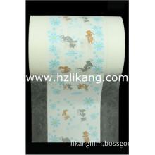 Non Breathable PE Film Laminate SSS Non Woven Material for Diaper Backsheet