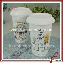 Kedali atacado copo de café de fibra de bambu