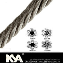 (6X19S) corda de aço inoxidável para Derricking, levantamento, desenho