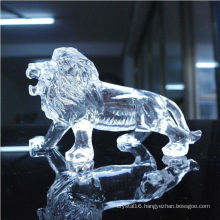 High Quality Transparent Crystal Animal Statues Business Gifts or Table Decoration