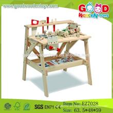 2015 juguetes de madera de la herramienta del juguete, juguetes de la herramienta del cabrito, juguetes populares de la herramienta del banco del trabajo de madera