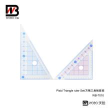 Office Stationery Measuring Triangular Plastic Ruler for School