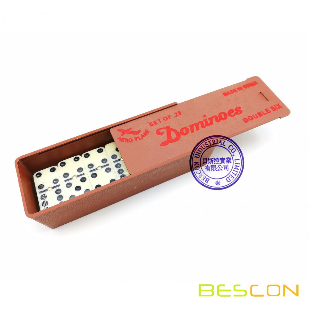 Cheap Ivory Double Six Domino in Plastic Box Packing