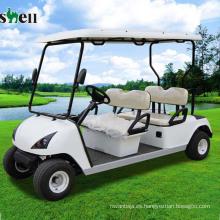 Carrito de golf eléctrico de la utilidad de los asientos 3kw cuatro para la venta blanco (DG-C4)