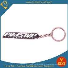Corrente chave de borracha da promoção da alta qualidade com logotipo personalizado no preço de fábrica