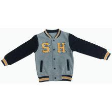 Roupa do jaqueta do esporte do velo do algodão do basebol da forma dos homens / menino
