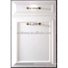 Puerta de armario de cocina a prueba de humedad de PVC MDF