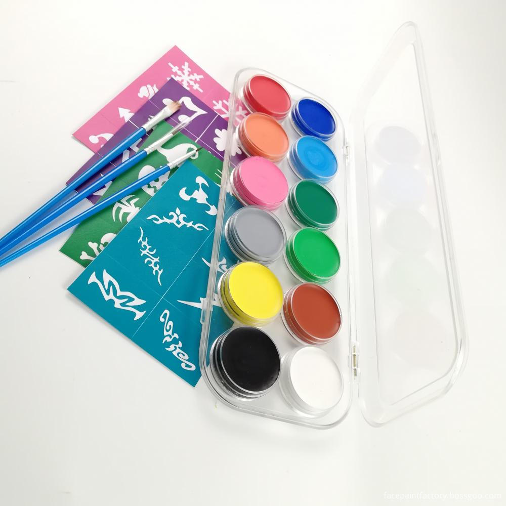 12 Colors Face Paint 4
