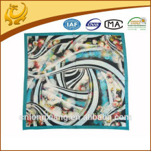 new fashionable digital printed hand roll satin silk scarf