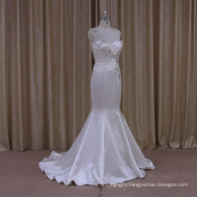 Shimmering Flare Sequins Mermaid Wedding Dresses Satin