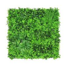 Pared decorativa de césped artificial ambiental pared con follaje