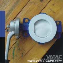 Válvula de borboleta alinhada do aço de molde de Cl150 / Ans 150 # PTFE / PFA A216 Wcb
