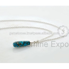 Designer Natural Gemstone Handmade Silver Jewelry Pendant Necklace