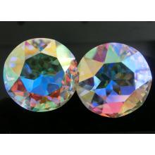 Pedra de cristal redonda da cor do Ab para a jóia