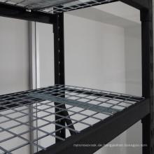 Schwarzer Hochleistungsstahl geschweißter industrieller Fachboden 4-lagig
