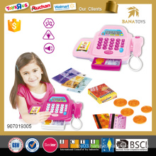 Childrens plastic electrical home appliances cash register girl toy